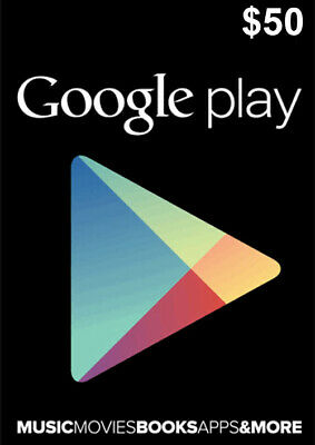 Google Play Card 50 Dollar - $50 USD Google PLAY Store Gift CARD - Android Key