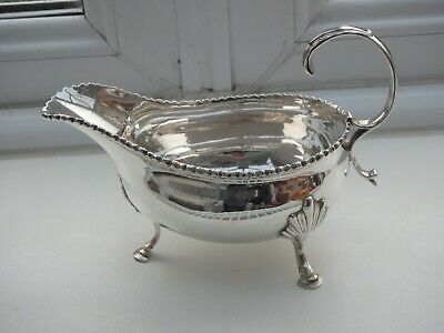 Excellent Antique Solid Silver Sauce Boat. 1762 William Skeen.
