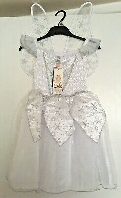 Fancy Dress Silver Fairy Angel Outfit Christmas Play 7-8 Years Bnwt Xmas Girls