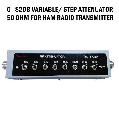 For Ham Radio Transmitter NEW 0 - 82DB VARIABLE/ STEP ATTENUATOR 50 OHM