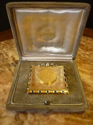 14 ct Gold Money Clip with Sapphire & Diamond and German Gold 20 Marks Coin 1895