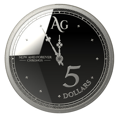 TOKELAU $5 Dollars 2019 CHRONOS 2019 - The Time 1 oz Silver coin Bullion