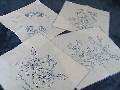Stamped Linens to Embroider - Pillows, Placemats, Doilies - Floral Variety