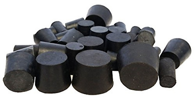 Stoppers Rubber Assorted Solid Stopper Contain Latex 1Lb Black 30Pack RS SOLID A