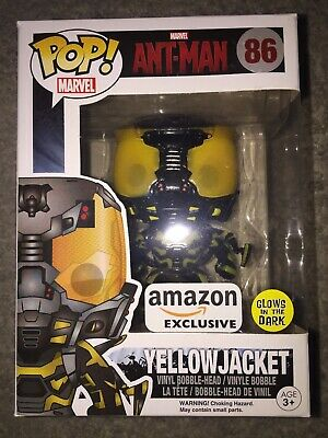Funko Pop! #86 Marvel Ant-Man - Yellowjacket Amazon Exclusive Glows In The Dark