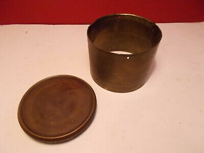 Antique French Clock Movement Case and Rear Door Plug 93x70mm