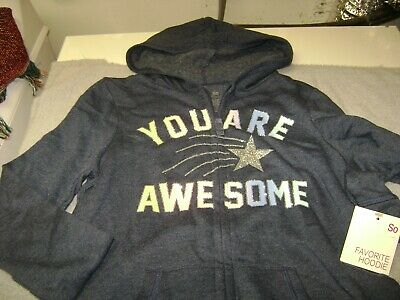 Zip  Hoodie  Long Sleeve Says: You Are Awesome  Size 12 Girls New  So $24