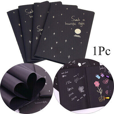 Supplies Notepad Black Paper Sketch Book Drawing Paper Sketchbook Notebook