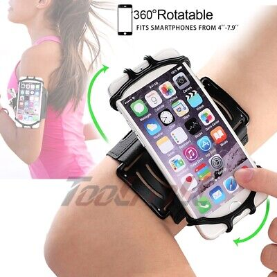 Universal Sports Armband 360° Rotatable Running Cell Phone Holder With Wristband
