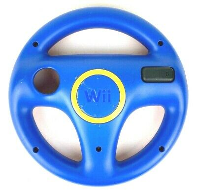 Wii Steering Wheel for Mario Kart Red Blue RVL-024 Authentic Nintendo