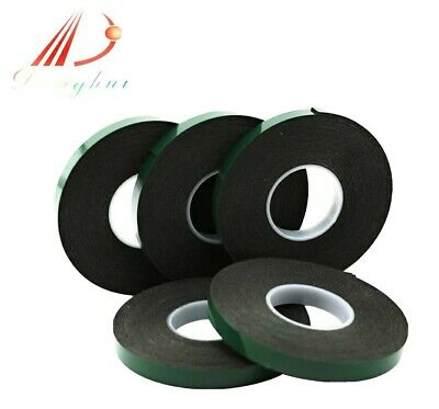 Black Super Strong Permanent Double Sided Self Adhesive Foam Car Trim Body Tape