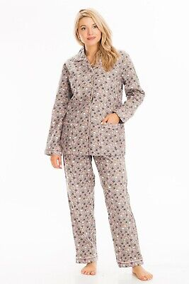 2-Piece 100% Soft Cotton Quality Women's Floral Sleepwear Loungewear Pajama Set