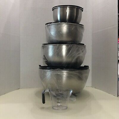 Premium Stainless Steel Mixing Bowls With Non Slip Bottom And Lids(8-5-3-1.5 Qt