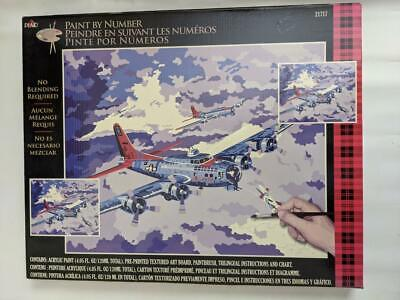 Plaid Paint by Numbers 21717 - B-17 bomber .50.8 x 40.6cm (20 x 16 in) NOS