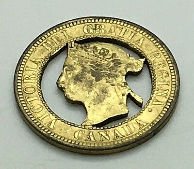 Canada Victorian Large Cent Cut Out 1880s