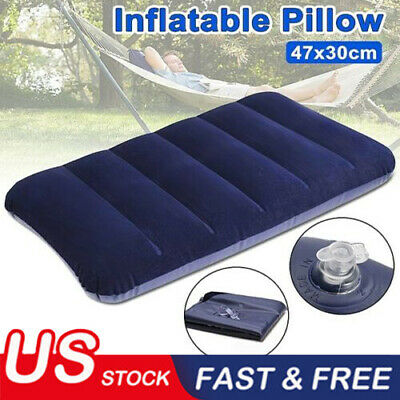 Soft Double Sided Air Inflatable Pillow Cushion For Camping Travel Sleep