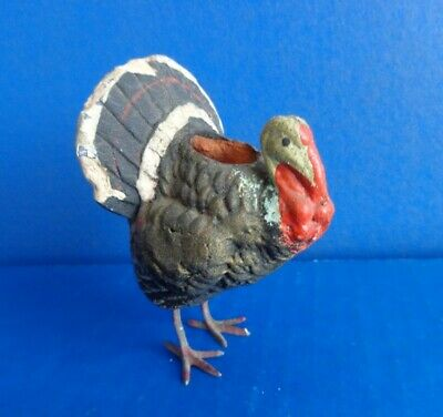 Vintage Turkey Paper Mache Candy Container- Hole For Candy