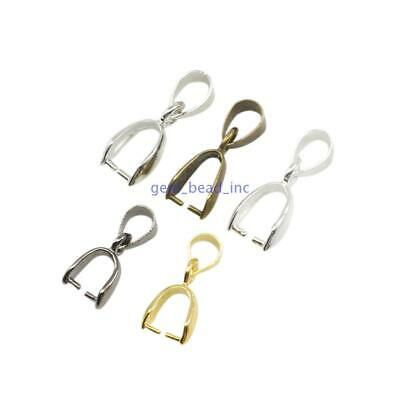 50 pcs For DIY Jewelry Making Pendant Making Materials Pinch Clip Bail Connector