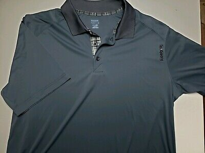 Reebok Men's XL Golf Play Dry Polyester Golf Athletic Polo Athletic