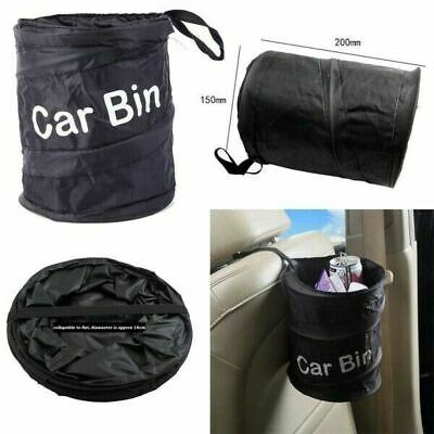Foldable Car Bin Water Resistant Litter Waste Rubbish Boat Auto Trash Bag Black