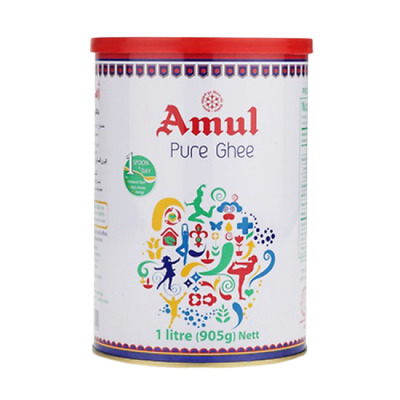 AMUL Pure Indian Cow's Milk Butter Ghee Rich In Vitamin A,D,E and K, 1KG | Best