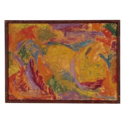 Sidney Zimmerman Abstract Oil Painting (1952)