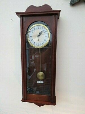 VINTAGE c1980s TIMEPIECE WALL CLOCK WITH GLAZED CASE