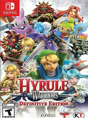Hyrule Warriors: Definitive Edition (Nintendo Switch, 2018) Free Shipping!!!