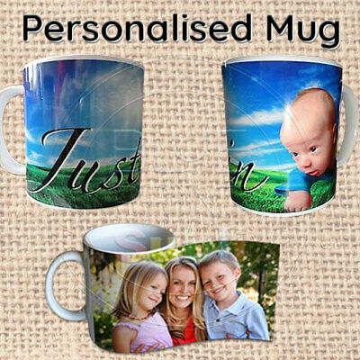 Personalised Photo Mug, Cup, Custom Design Image, Name, Logo, Text, Quality Gift