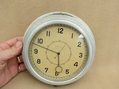 Vintage Spring Driven Imhof Aluminium Cased Ship Bus Bulkhead Clock