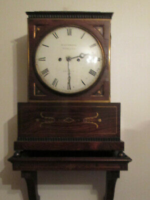 Antique Regency Musical Brackett Clock By Richard Ganthony C1825