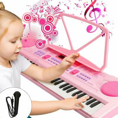 61 Keys Multi-Function Electronic Kids Pink Piano Keyboard, Educational Toy Pink