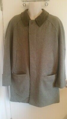 Grenfell Mens Wool Mix Derby Tweed Pea Coat (Size 40)