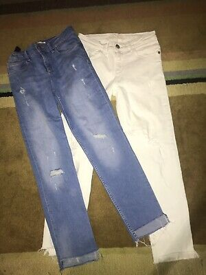 2 Pairs Of Skinny Jeans Size Aged 9 10 Years Zara girls Current Season ❤️