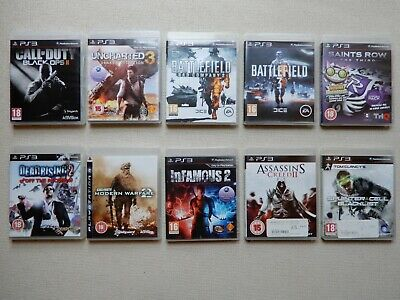 10 x Playstation 3 Game Bundle – PS3 Console inc Call of Duty Assassins Creed #2