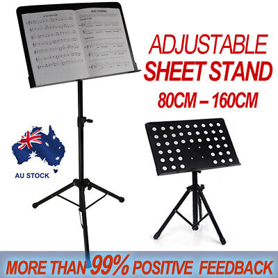 Adjustable Music Stage Stand Heavy Duty Metal Music Sheet Conductor Folding AU