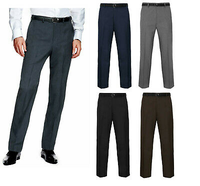 New Mens Trousers Work Formal Casual Smart Boys Office Business Pocket Plus Size
