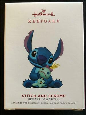 NEW 2019 Hallmark Lilo & STITCH and SCRUMP Disney Christmas Ornament Rag Doll
