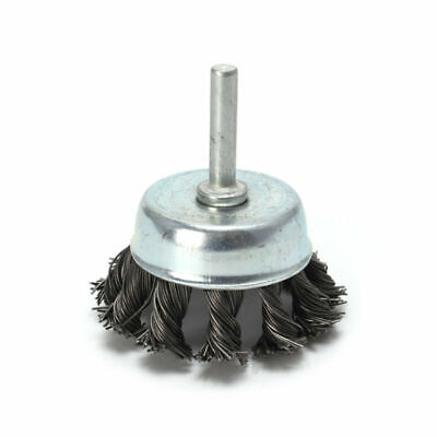 """Parts Wire Brush Metal Wheel Cup 1/4"""" Shank Drill Attachments Accessories Rust"""