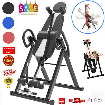 Heavy Duty Adjustable Inversion Table Back Pain Relief Therapy Fitness Equipment