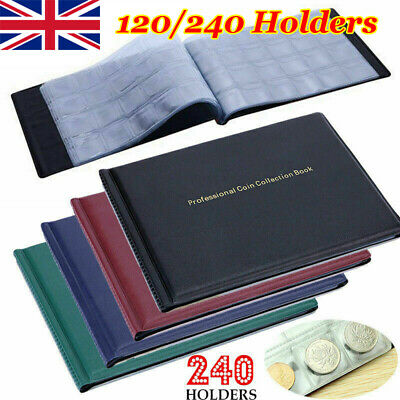 COIN ALBUM for 240 120 coins perfect for £1 COINS FOLDER BOOK COLLECTOR /BL2 New