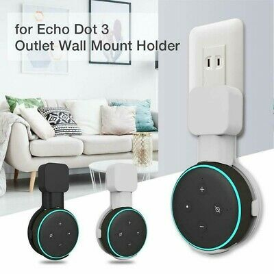 For Amazon Echo Dot 3rd Generation Speaker Wall Mount Hanger Bracket Holder Plug