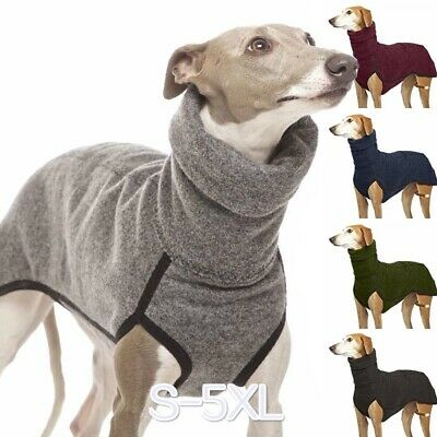 Winter Dog Clothes Greyhound Winter Puppy Jumpsuit Pet Solid Color Fashion Coats