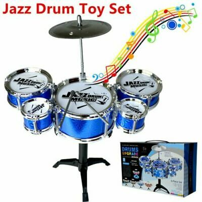 Kids My First Drum Kit Play Set Drums Cymbal Musical Toy Instrument Pedal Xmas