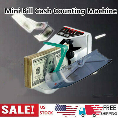 Mini Handy Bill Cash Banknote Counter Money Currency Counting Machine US P7E9