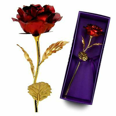 VALENTINE'S DAY GIFT FOR Her US 24K Dipped Gold Foil Flower Rose Wife Mother Mom