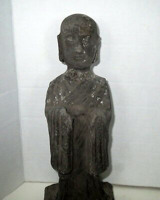 Large Old Chinese GUARDIAN TOMB ATTENDANT Antique - Pottery Statue Sculpture