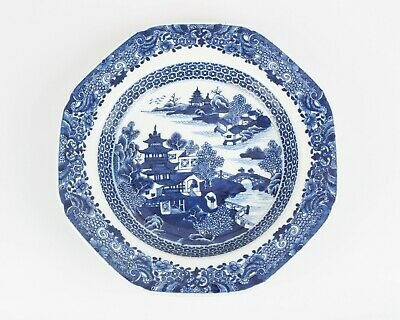Antique 18th century Chinese blue and white porcelain dish