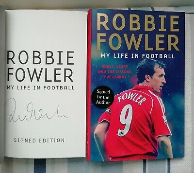 Football Robbie Fowler Signed My Life In Football 1/1 Uk Hbdj 2019 Brand New