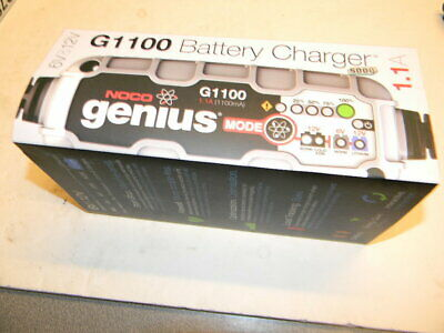 NOCO Genius G1100 6V/12V 1100mA Battery Charger New in Box